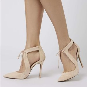 Topshop 'Genie' Lace-Up Pump
